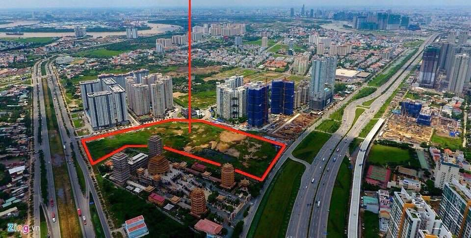 Vị trí dự án The Palace Residence của Novaland tại đường Song Hành, phường An Phú, Quận 2