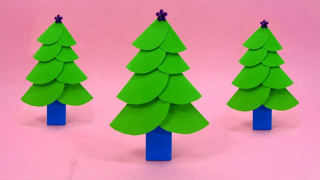 Diy Paper Craft Christmas Tree Making Easy And Simple Pr Flickr