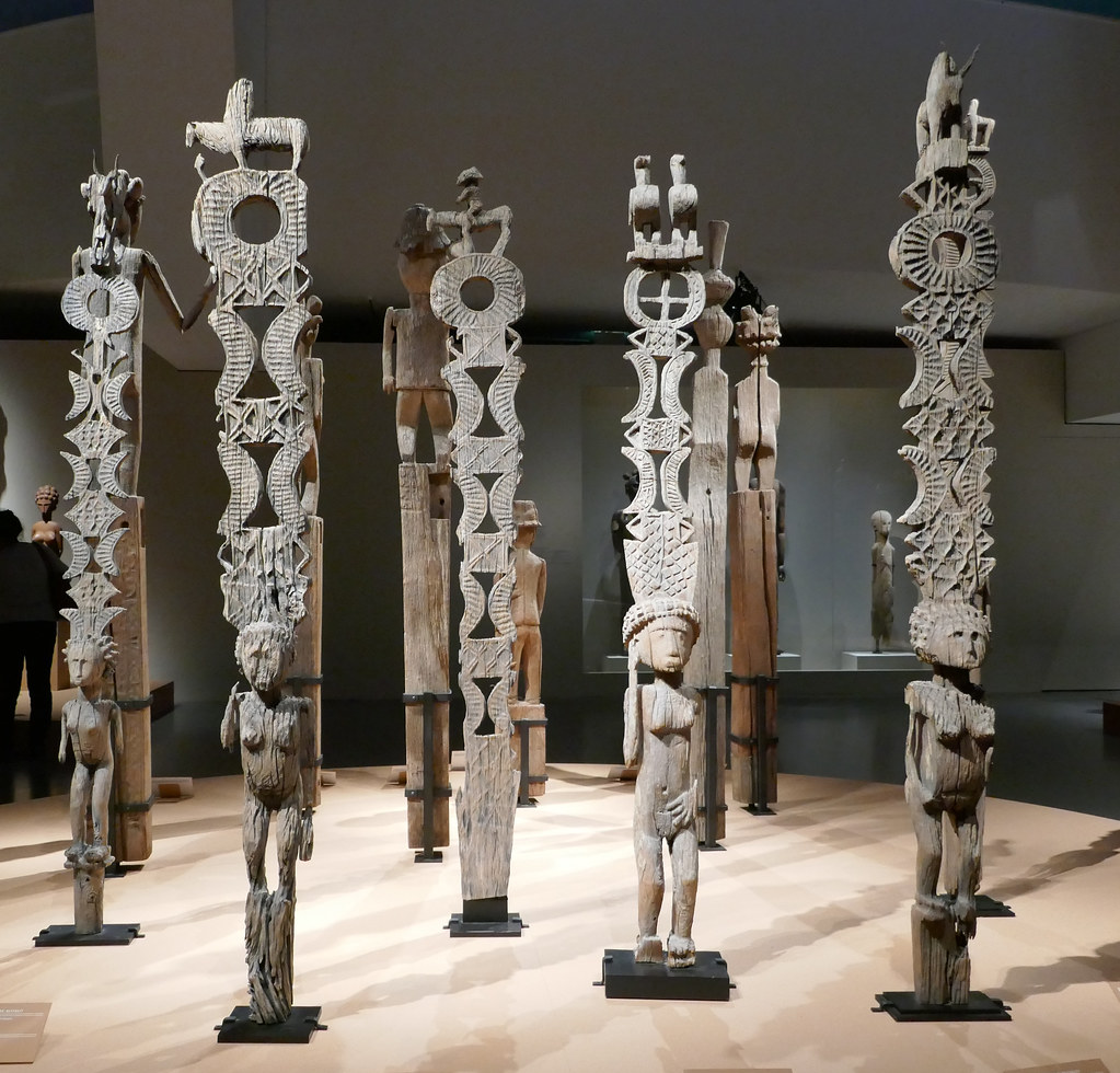 ... Weathered wooden funeral poles called Aloalo - Madagascar | by Monceau