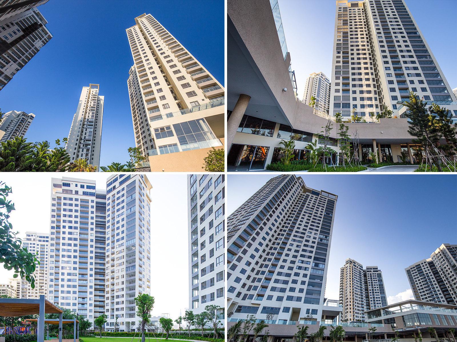 Các toà tháp cùng nhiều căn hộ với sự đa dạng và đẳng cấp tại Đảo Kim Cương