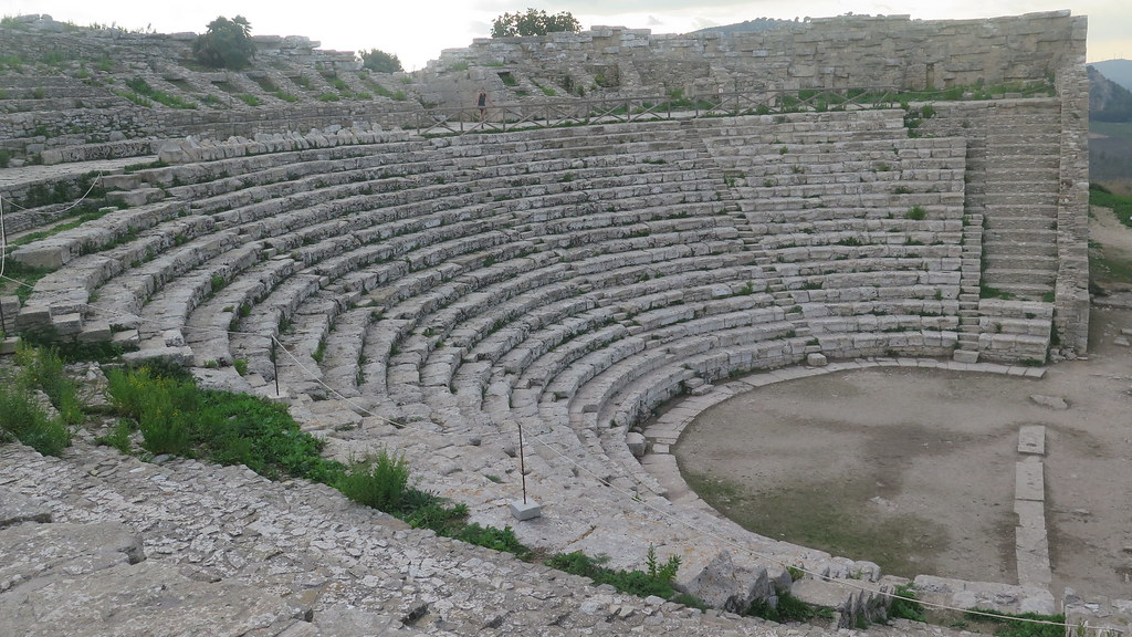 the ancient greek theatre of segesta built in the c3rd bc flickr