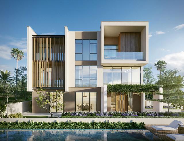 Mỗi căn biệt thự có kết cấu 1 hầm, 1 trệt, 2 lầu, 1 sân thượng và được trang bị sẵn khu vực bể bơi và thang máy riêng tại gia. Gia chủ hoàn toàn có thể tùy biến theo sở thích và nhu cầu cá nhân.