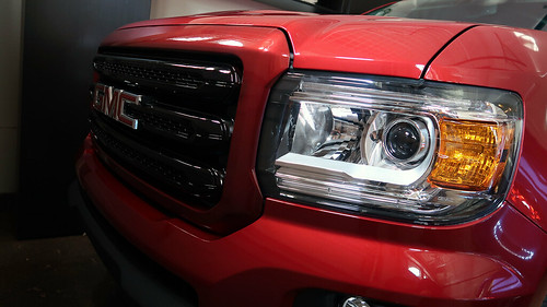 Close-up of grille with color-matched border and black inside (originally chrome) | by Parkzer