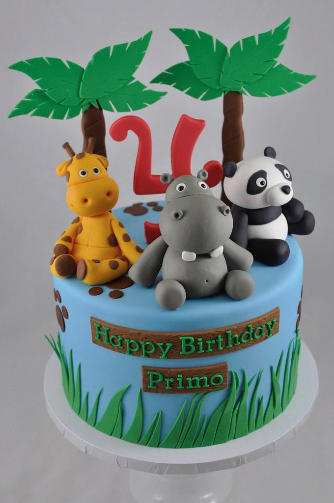 Zoo Themed Birthday Cake Jenny Wenny Flickr