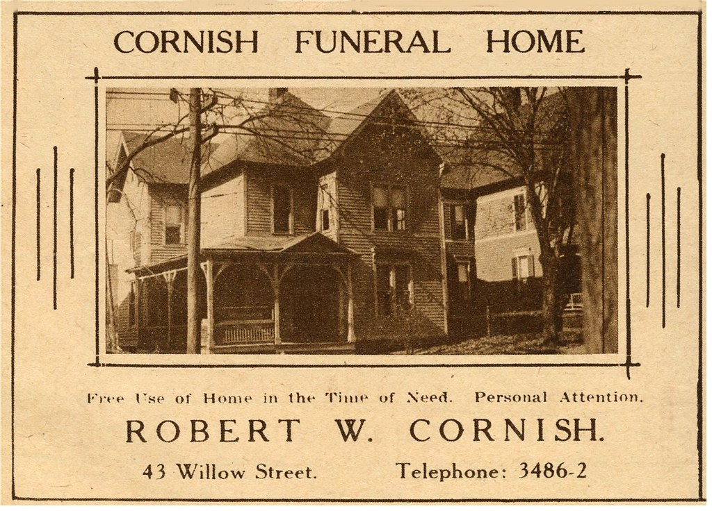 Cornish Funeral Home Waterbury Ct In 1924 By Chescrowel