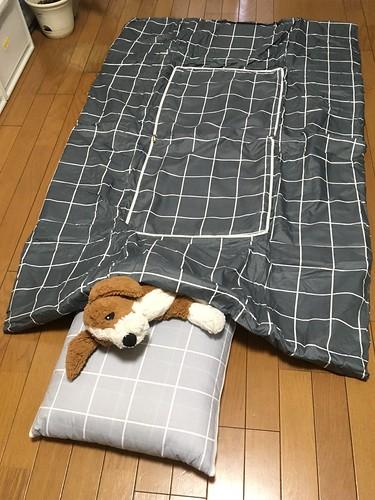 ダイソーの布団になるクッション 500円 ( ˘ω˘ ) スヤァ...