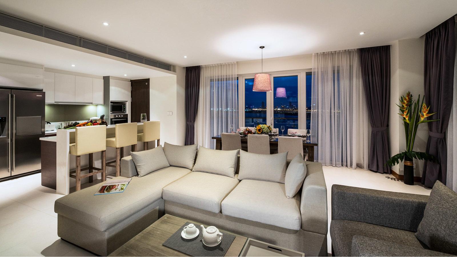 Căn hộ tòa Brilliant Đảo Kim Cương được thiết kế với các loại căn diện tích lớn