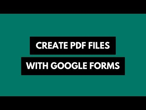 How to Automatically Create PDFs with Google Form Responses | by labnol