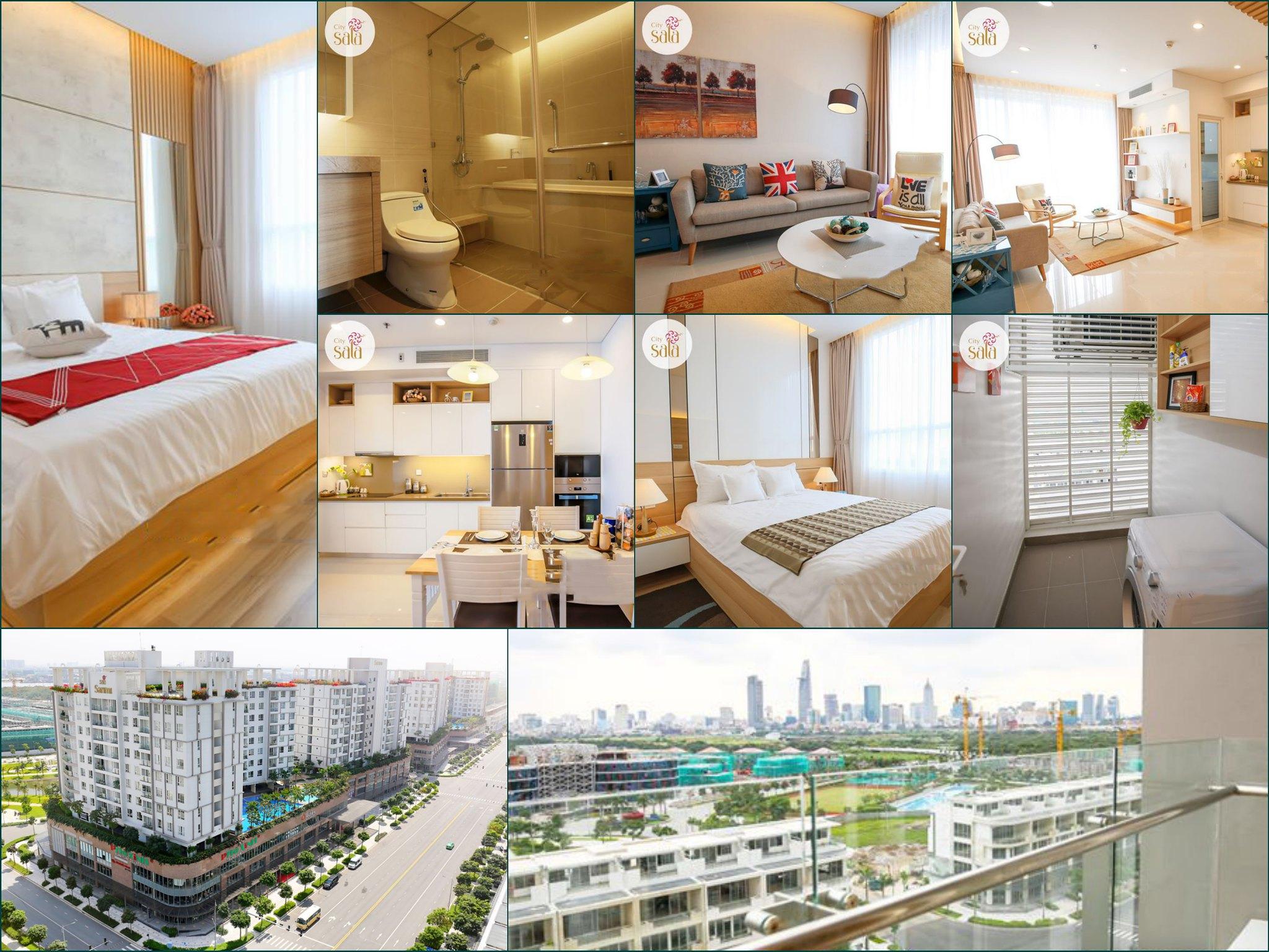 Hình ảnh nội thất thực tế căn hộ 2 phòng ngủ Sarimi Cho thuê