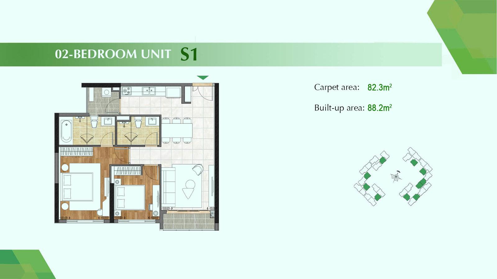 Thiết kế căn 07 Block D chung cư Sadora