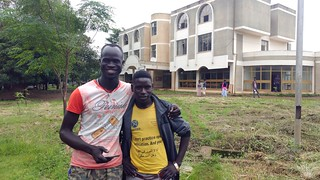 South Sudanese refugees and current college students, Poch Jackson Petov and Hamid Abdallah Hamad in front of Gilgel-BelesCollege of Teacher Education. © UNICEF Ethiopia 2018 Amanda Westfall | by UNICEF Ethiopia