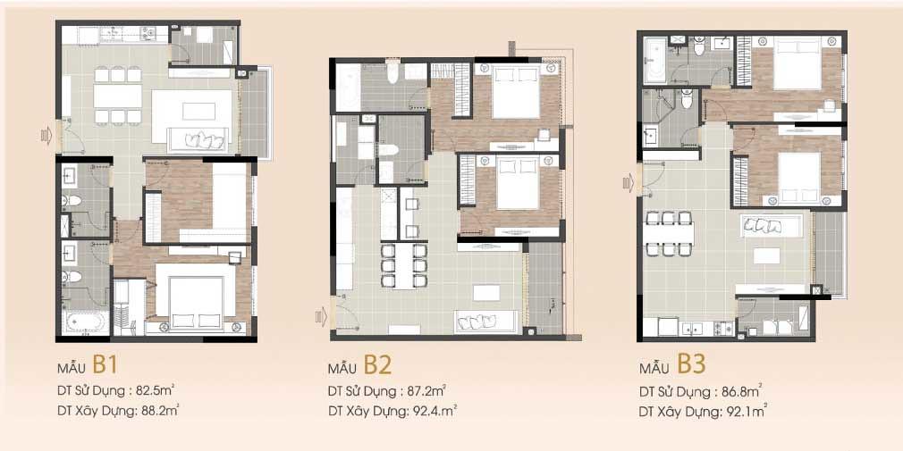 Căn hộ 2 phòng Sarimi cho thuê thuộc mẫu B1