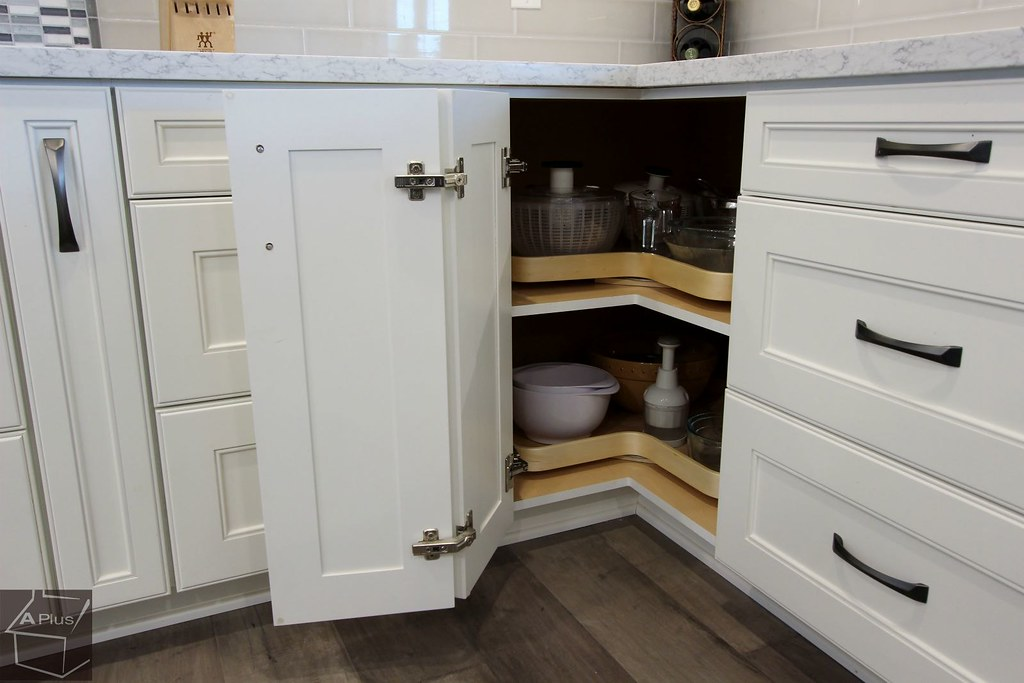 Kitchen Corner Cabinet Remodel With Lazy Susan Folding Doo Flickr