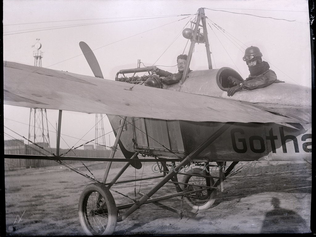 A Glass Plate Negative Showing Gotha LE2 Taube With An Unusual Wing Warping Construction
