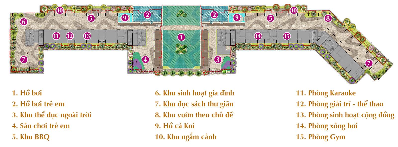 Tiện ích khu căn hộ Sarica - khu đô thị Sala