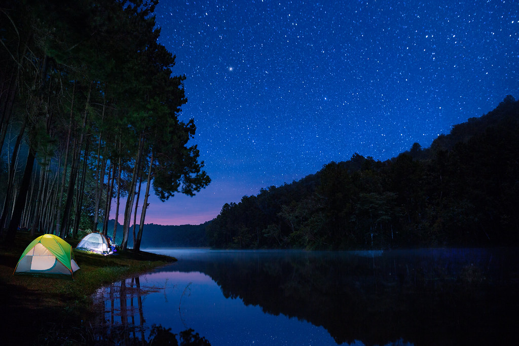 Camping in the woods at night Wild Camping Landscape Of Night Camping With Stars In Pang Ung Pine Woods Forest And Nature By Flickr Landscape Of Night Camping With Stars In Pang Ung Pine Woou2026 Flickr