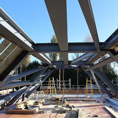 Roof Structure in Progress https://ift.tt/2qz8waG | by Shape Architecture