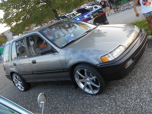 1990 Honda Civic Wagon Lost In The 50s Cruise Night Marle Flickr