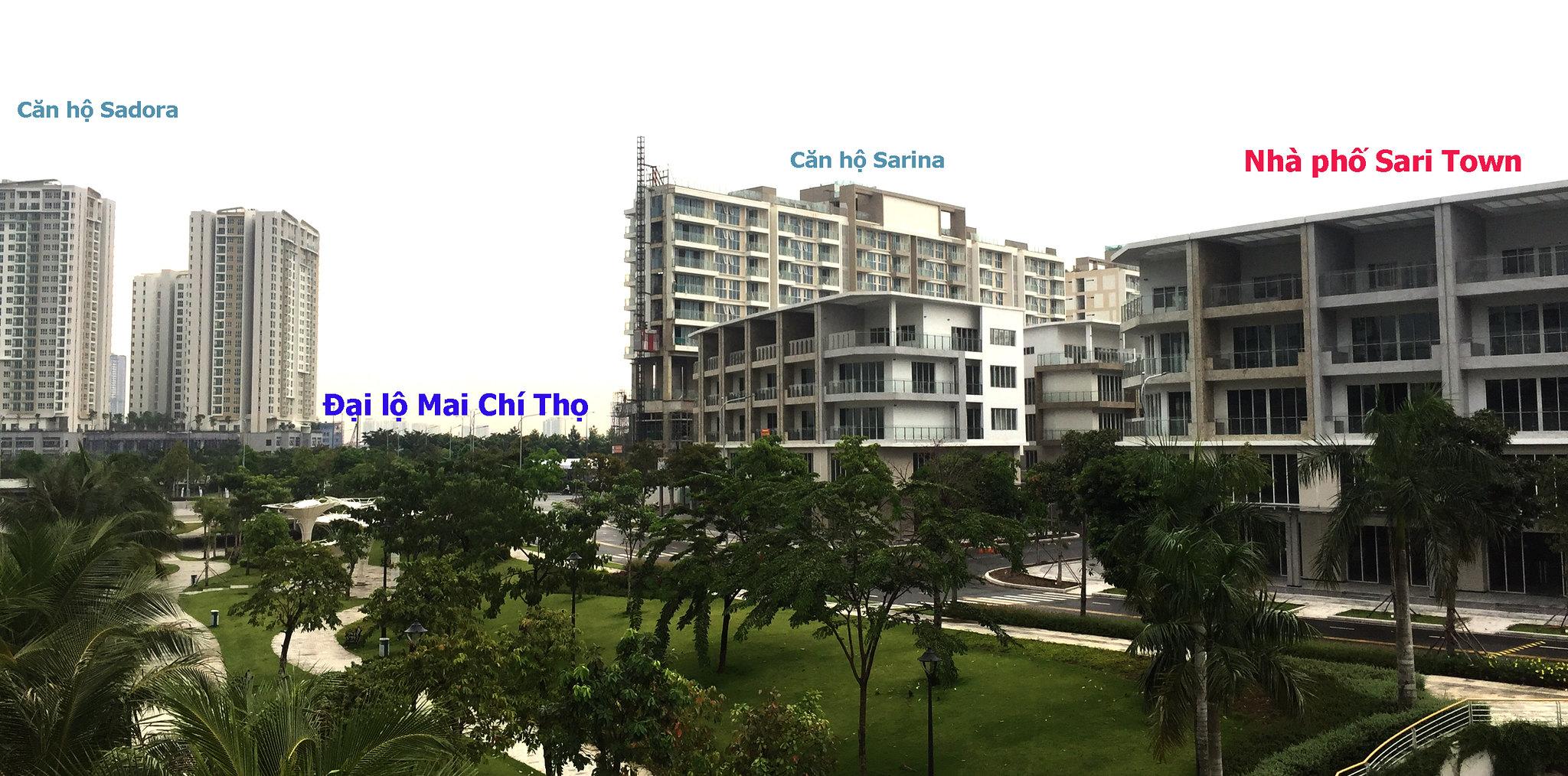 Khu nhà phố shophouse Sari Town - khu đô thị Sala cho thuê