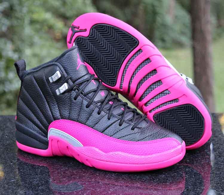 6bafdeb5744 ... Air Jordan 12 Retro GG Playoffs Black Deadly Pink Silver 510815-026  Size 7Y
