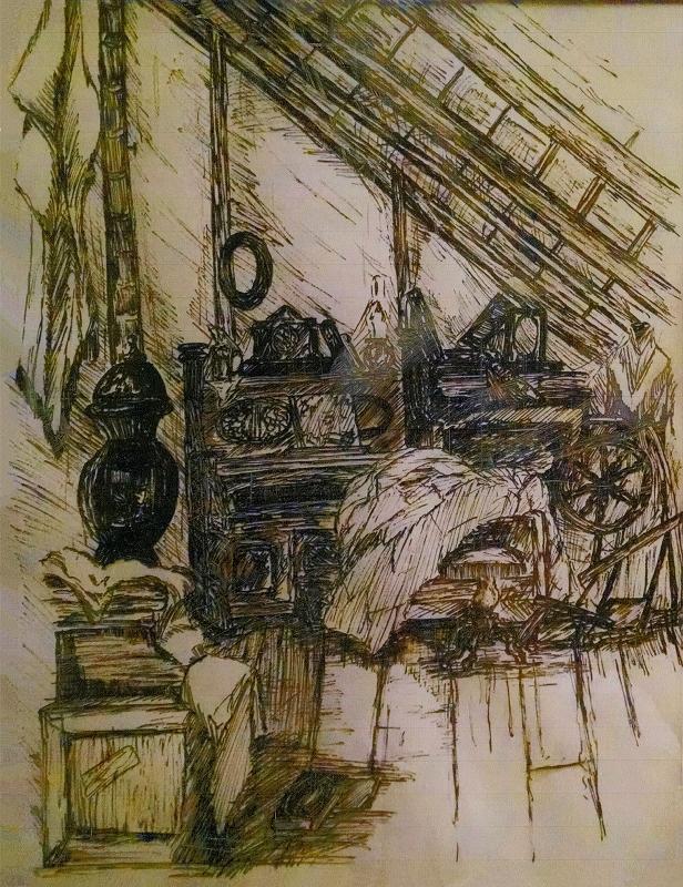 Attic drawing Loft Extension Attic Study Drawing By Eli George Burick Iii By Lairdascott Attic Study Drawing By Eli George Burick Iii Scan Providu2026 Flickr
