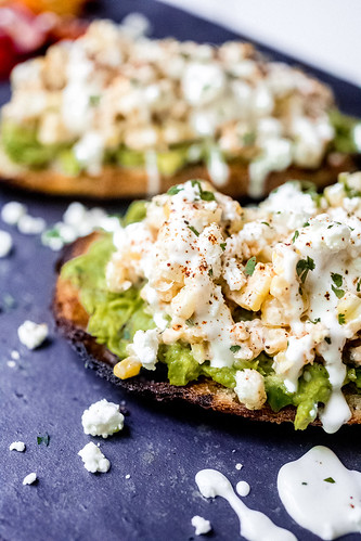 Street Corn Avocado Toast | by Smells Like Home