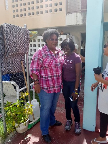 Prime Minister Mia Amor Mottley tours flooded areas  following TS Kirk  (13) | by barbadosgovernmentinformationservice