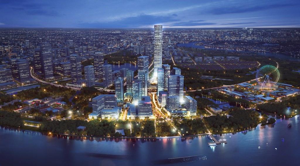 Empire City by Night (Quy hoạch Giáo Xứ Thủ Thiêm & Công Viên VinGroup đã được duyệt thiết kế)
