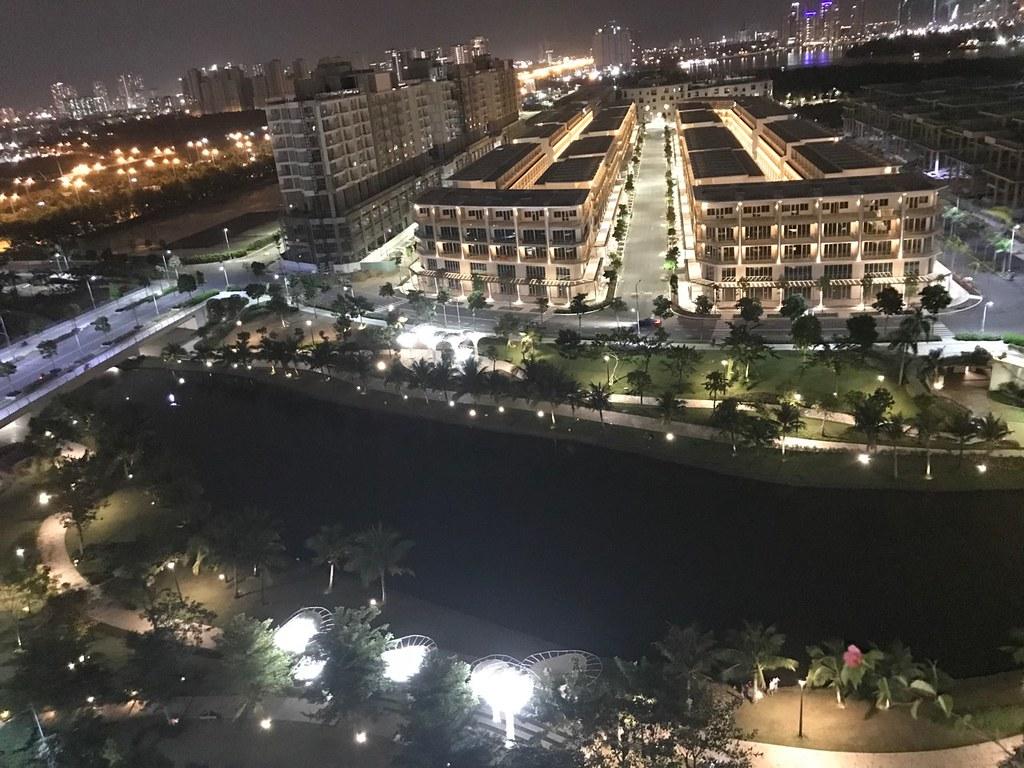 View công viên sông Sala, có thể nhìn thấy sông Sài Gòn