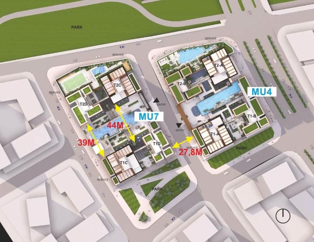 Tòa MU4: Linden; Tòa MU7: Tilia