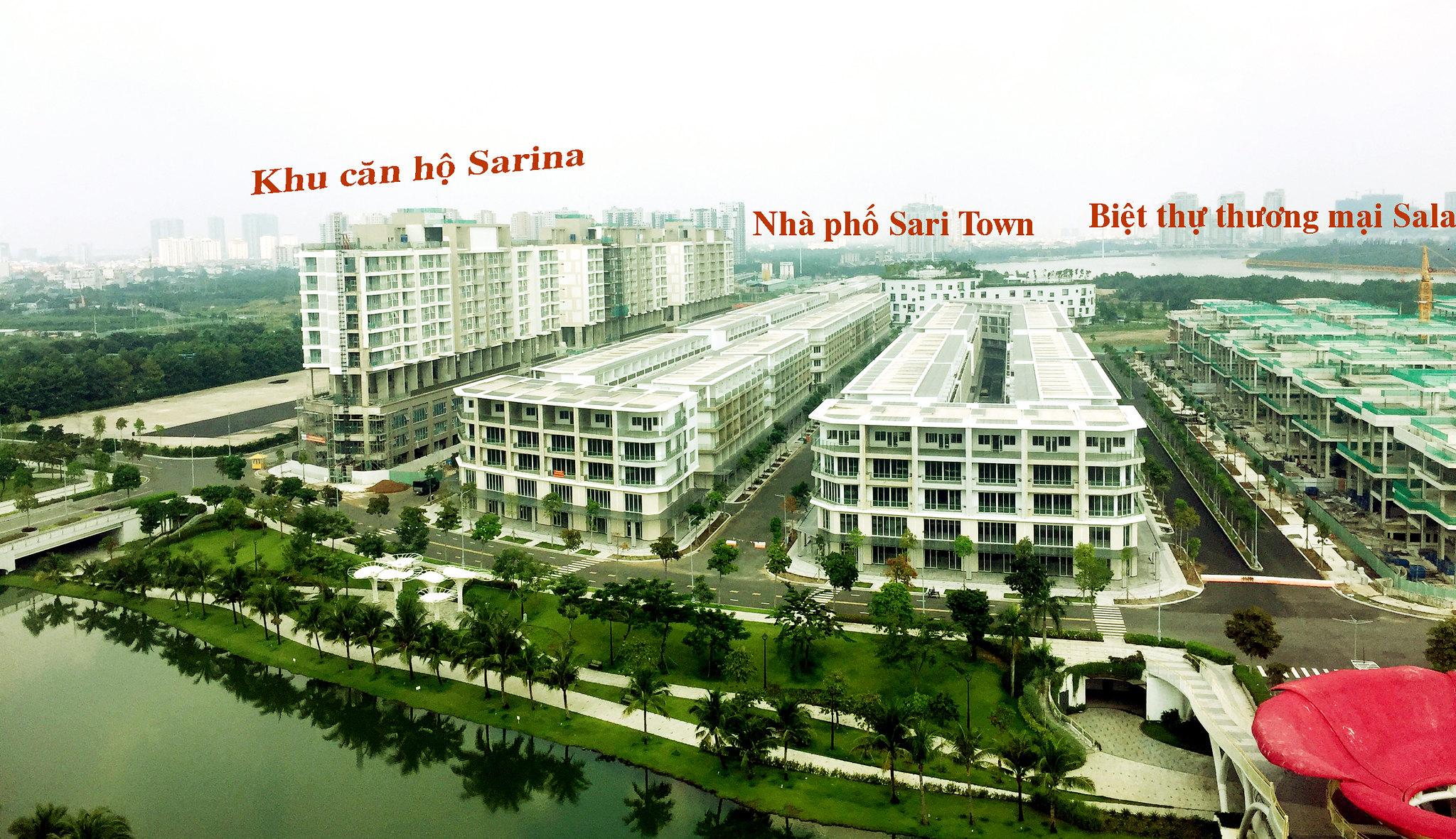 cho thuê nhà phố shophouse Sala Sari Town đã hoàn thiện