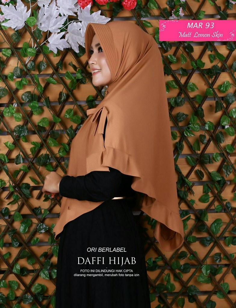 Jual Jilbab Pita Rempel By Daffi Bahan Lemon Skin Ecer Idr Flickr