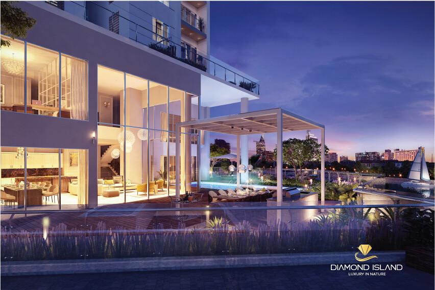 Phối cảnh căn hộ Pool Villa tại Đảo Kim Cương