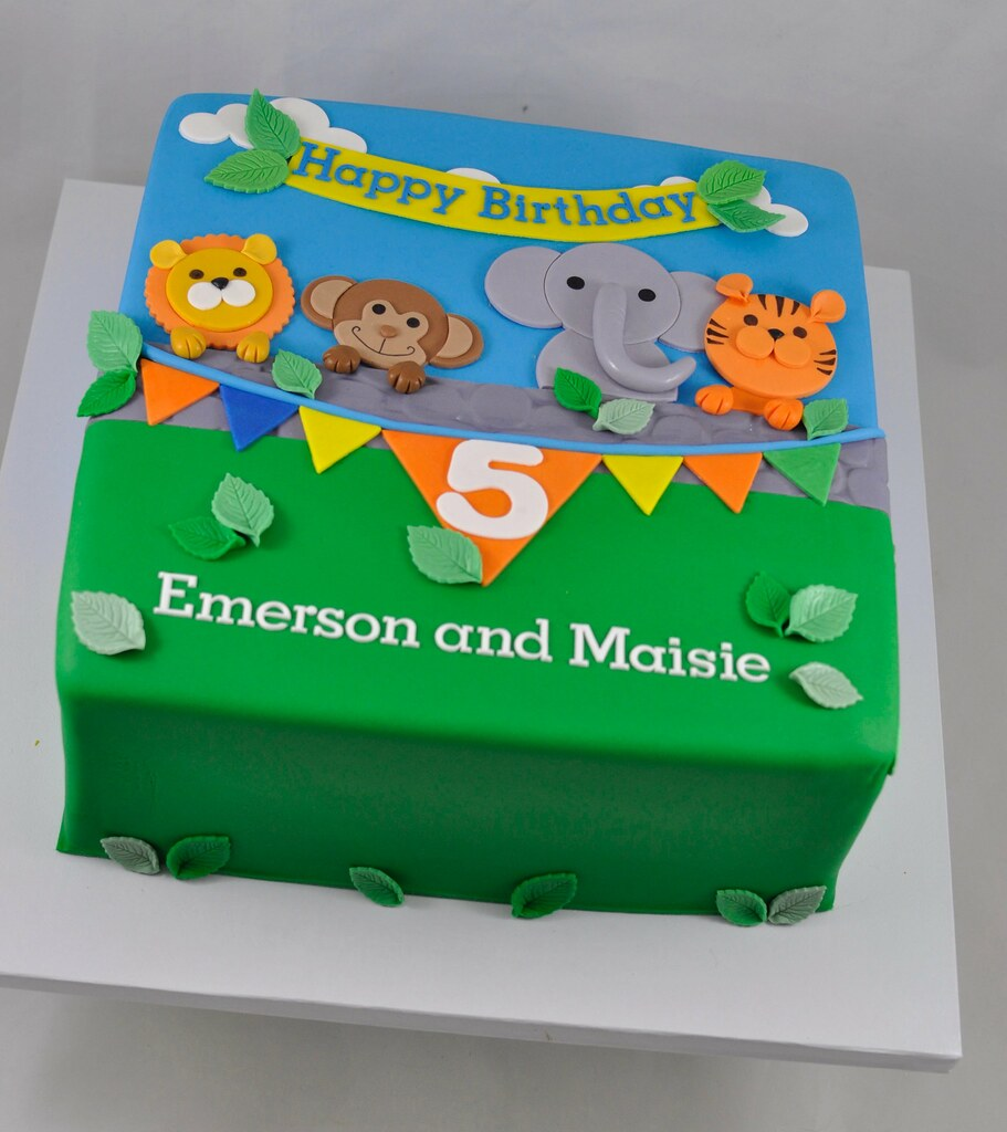 Jungle Themed Birthday Cake Jenny Wenny Flickr