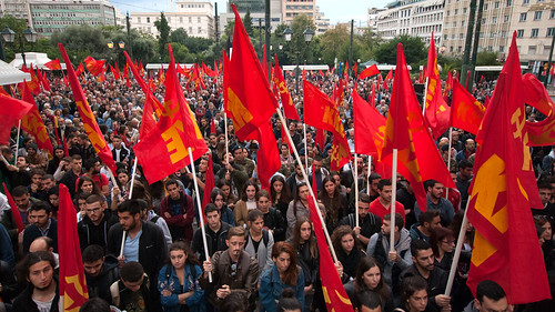 Rally of the KKE on the 74th anniversary of the liberation of Athens | by Communist Party of Greece