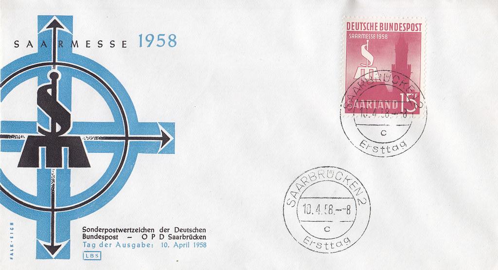 Briefmarken Der Deutschen Bundespost Saarland Internatio Flickr