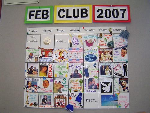 Feb Club Calendar 2007