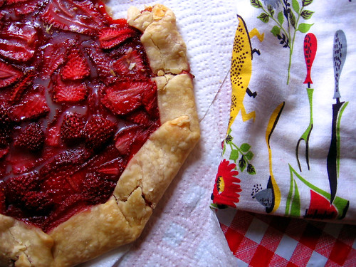 strawberry tart, a little too much corn starch | by abbytrysagain