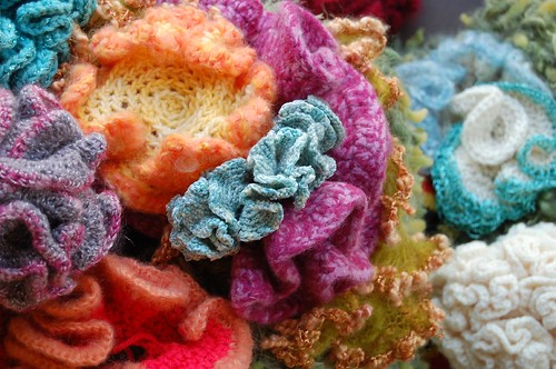 Crocheted Coral Reef detail | by ImagiKnit