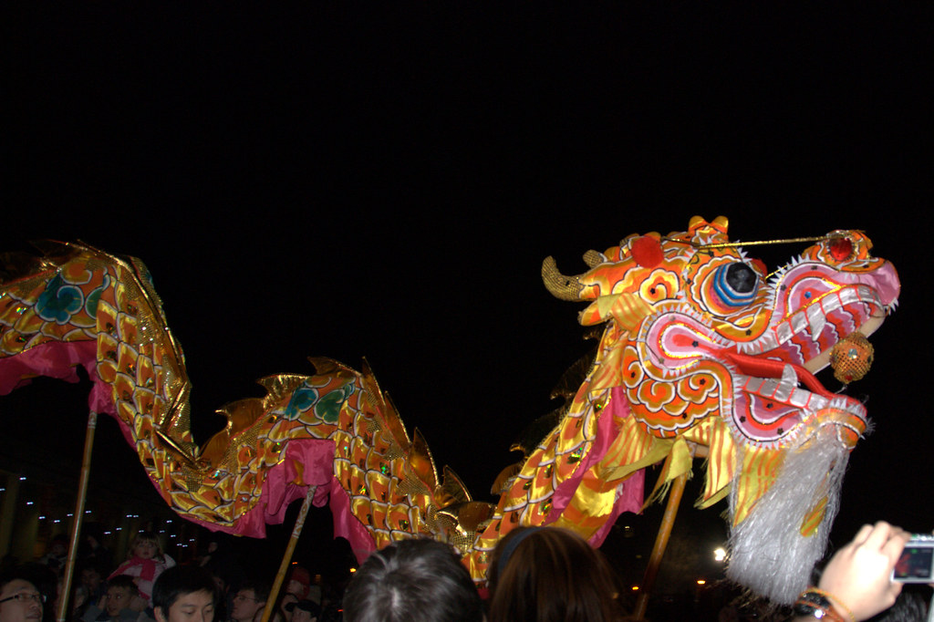 Chinese Dragon The Chinese Dragon Display At The Chinese