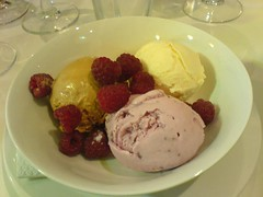 Ravenhill ice cream with Torbay raspberries | by clotilde