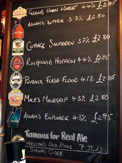 Beer list at the Edgar Wallace, London WC2 | by Kake .