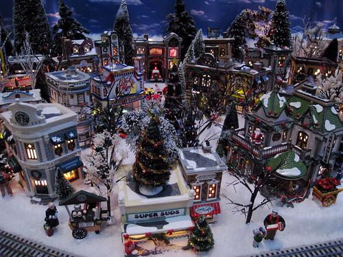 Christmas Model Village Holiday Diorama Hyatt Regency