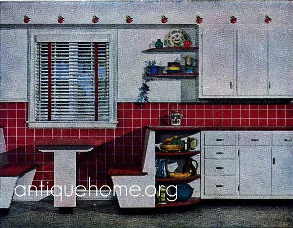1950s Kitchen Design 1950s kitchen design - built in seating | 1950s built in bre… | flickr
