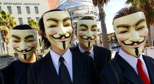 Anonymous at Scientology in Los Angeles | by Sklathill