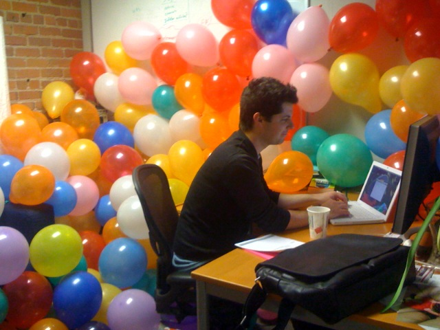 Balloons For A Practical Joke Ben S Office Was Filled