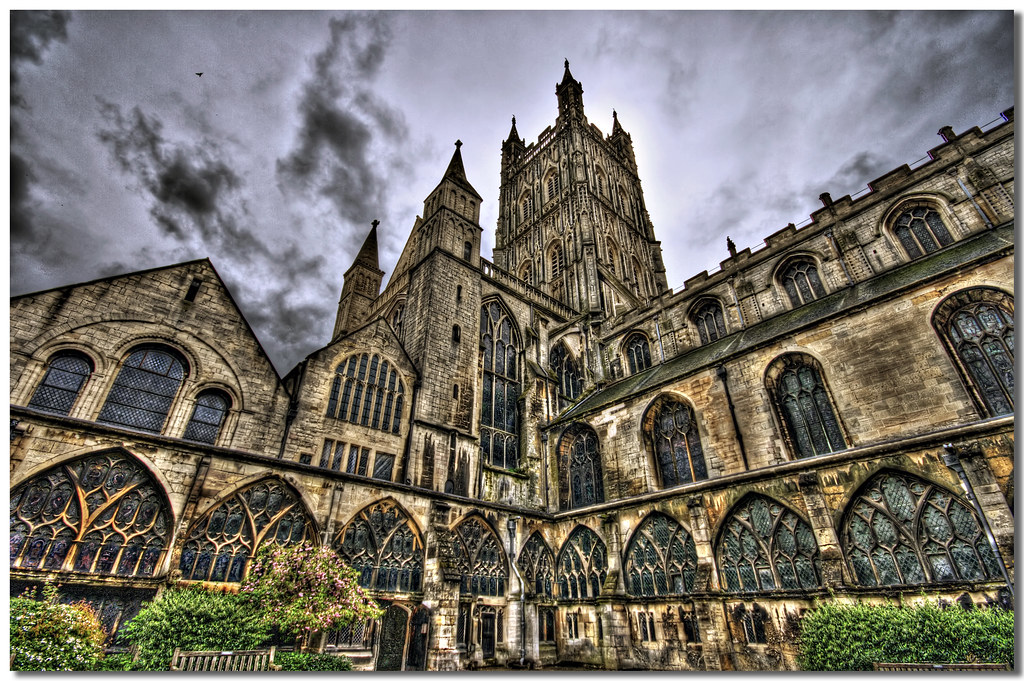 Hogwarts Cathedral View On Black Gloucester Cathedral