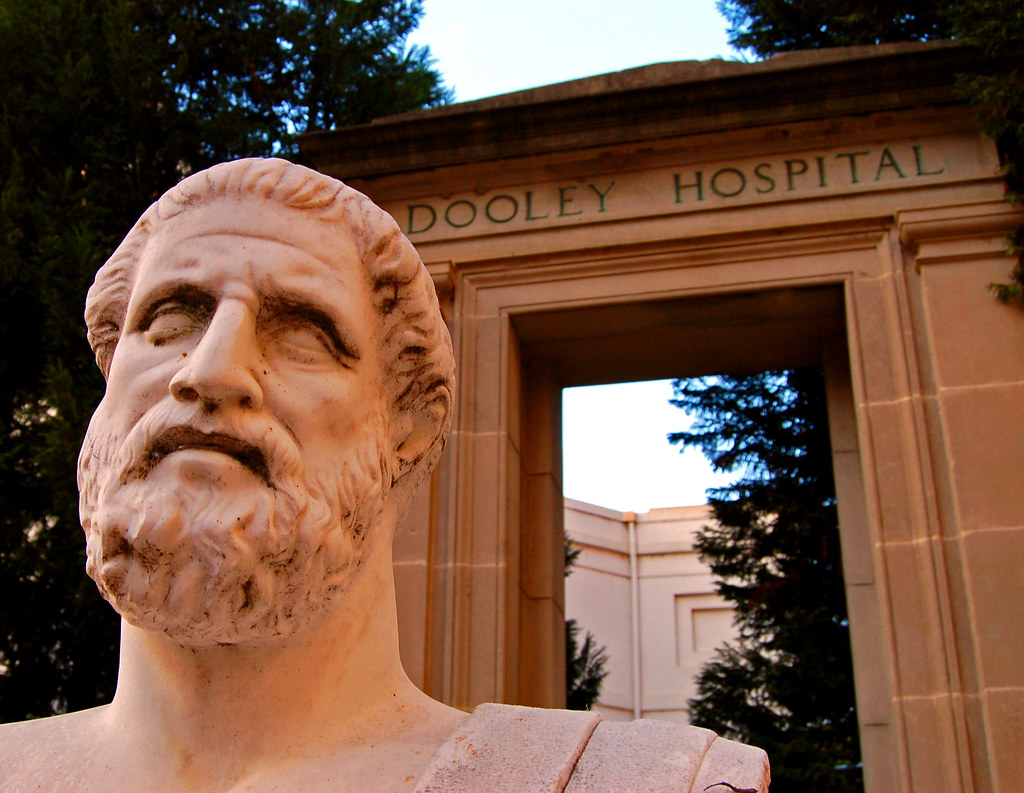 Hippocrates Statue and...