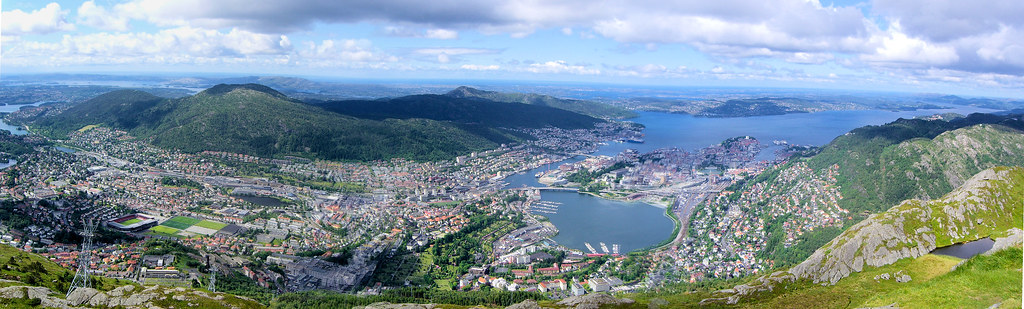Bergen from Ulriken, Bergen, Norway
