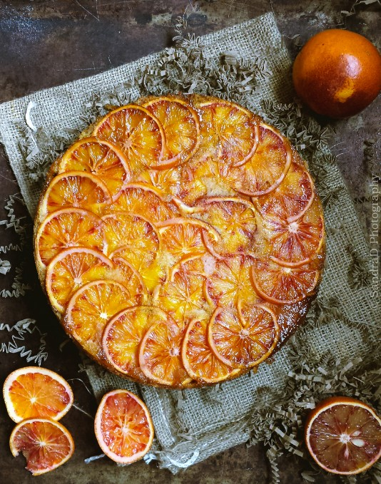 Upside-Down Blood Orange Cake